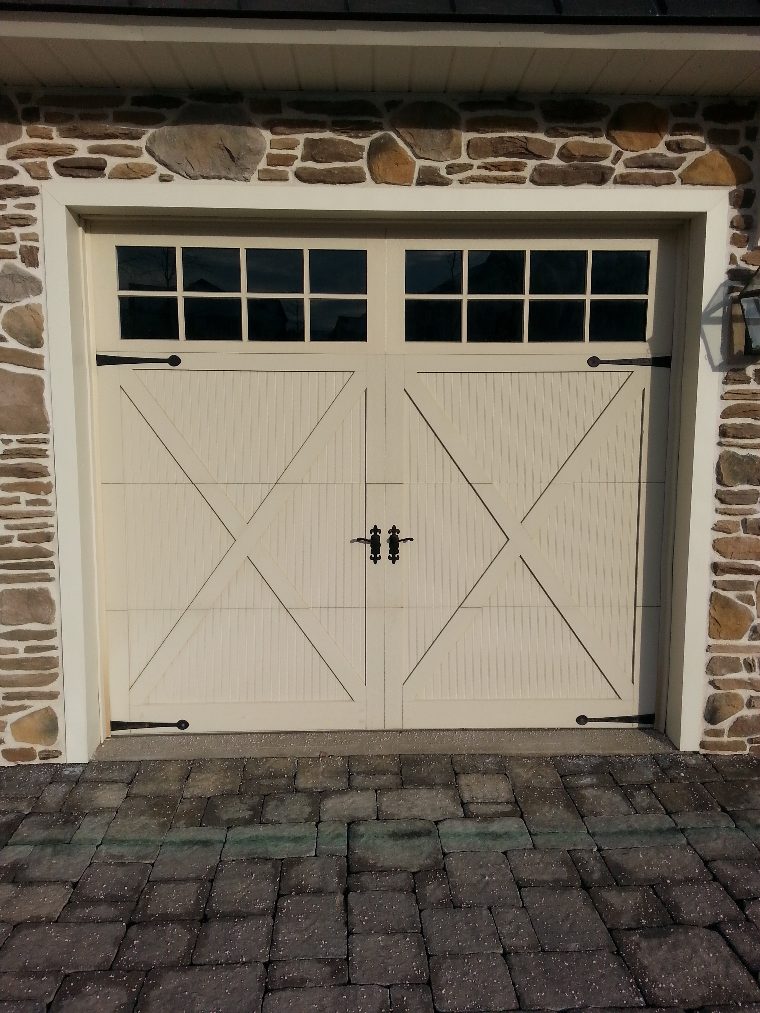 i doors h c door overhead garage house wood pin faux accents carriage